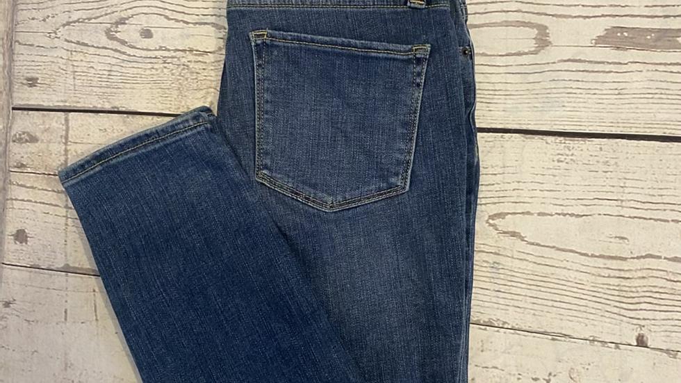 "Womens / Ladies DKNY blue Denim Hi Rise Skinny Jeans Size 28"" Waist Uk 6 New Tag"