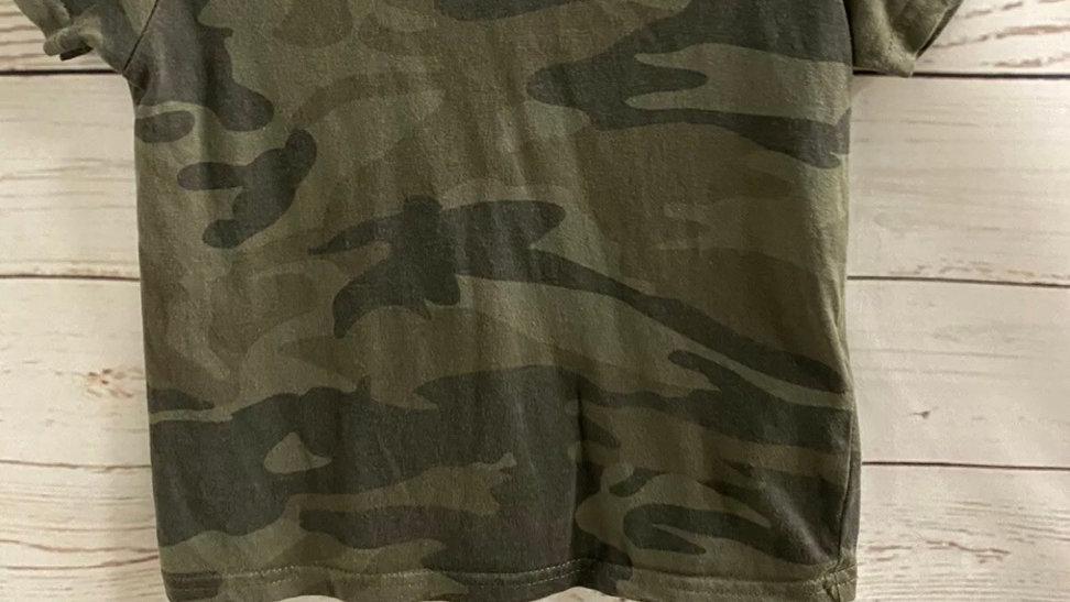 Boys Primark Khaki Camo Short Sleeve T-Shirt Age 3-4 Years good  condition