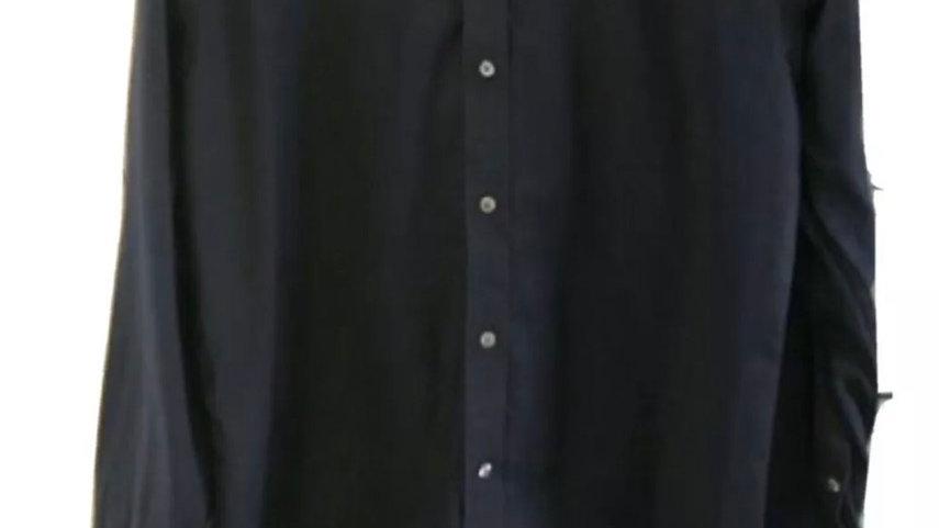 """Men's Debenhams Blue Long Sleeve Shirt Size 16"""" Collar 41"""" Chest Immaculate"""