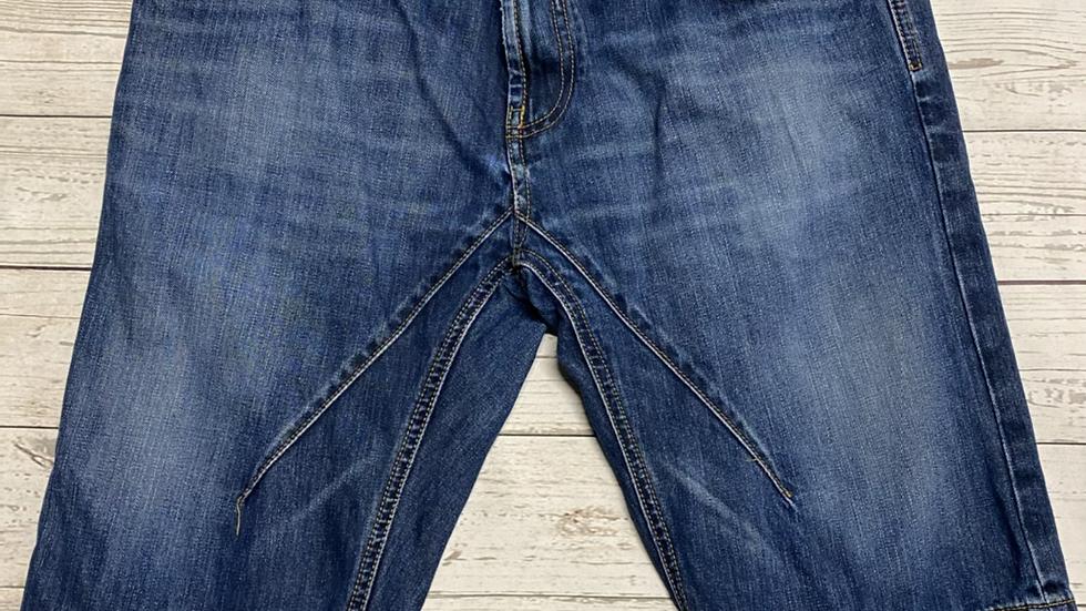 "Mens George Blue Denim Shorts Size 32"" Waist Immaculate"
