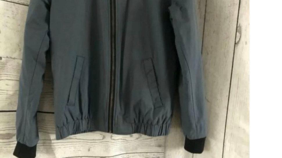 Mens River Island Blue/green Bomber Harrington Jacket Size xs - Immaculate