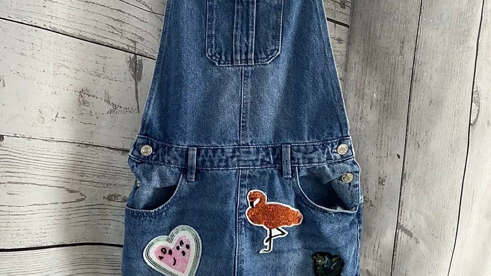 Girls Dungaree Blue Denim & Co Outfit Age 12-13 Years Immaculate