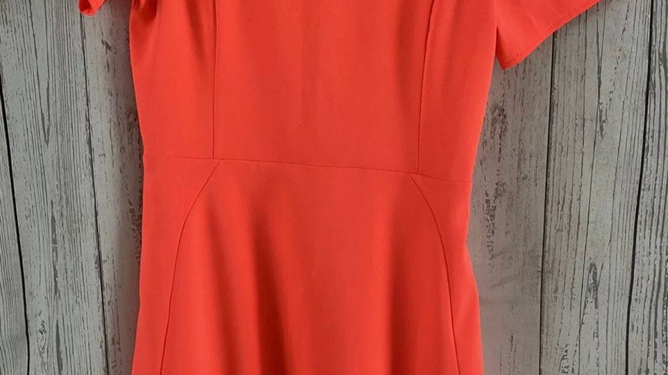 Womens / Ladies Topshop Bright Coral Dress Size 8 Immaculate Condition