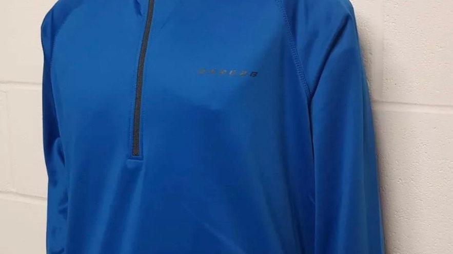 Dare2b Mens Fleece Fuseline Top Stretch Cycling Sports Fit Blue Top Size XXL