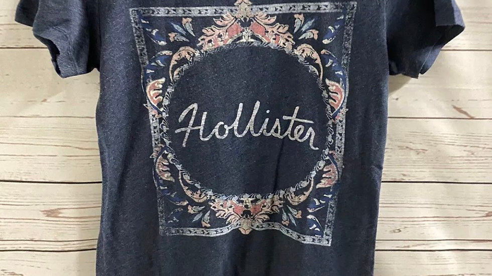 Womens / Ladies Hollister Blue Short Sleeve T-Shirt Size Xs Excellent Condition