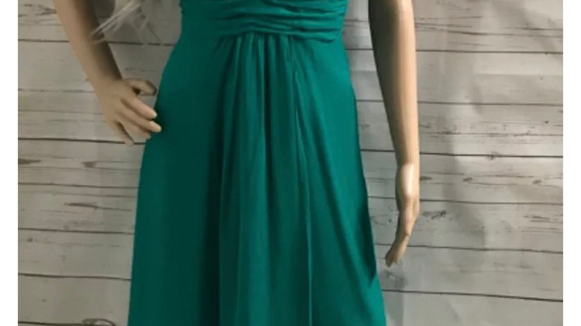 Womens / Ladies Warehouse Green V Neck Dress  Size 8