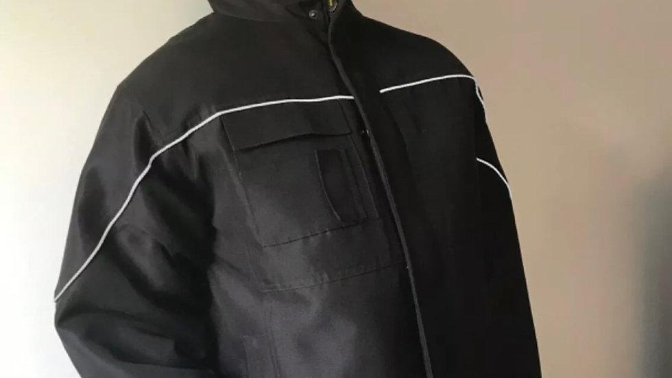 Men's workwear black coat size Large excellent condition