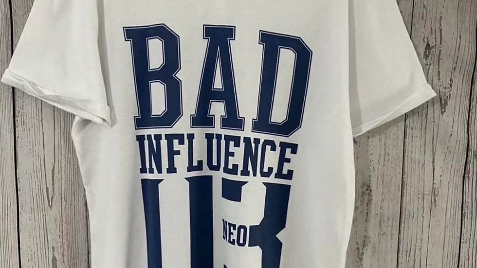 Womens / Ladies Adidas Neo Bad Influence T-Shirt Size Medium New With Tags