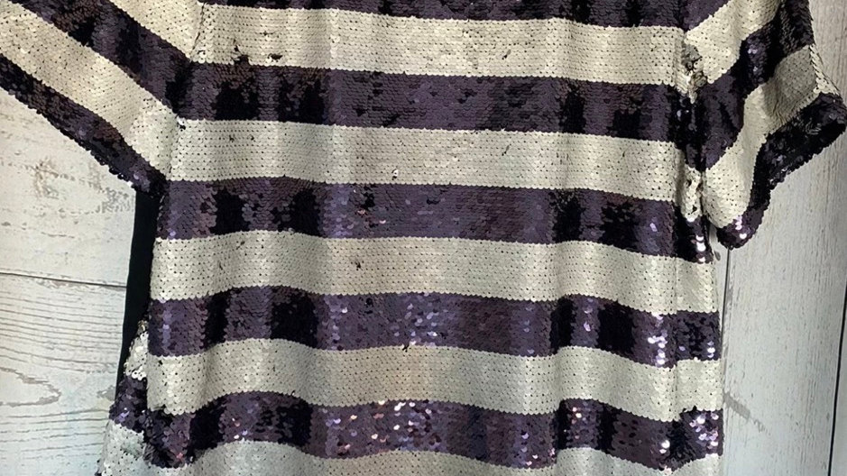 Womens / Ladies Marks & Spencer Purple Mix Sequence Top Size 16 New With Tags