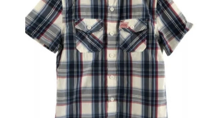 Mens Superdry Red Blue Check Short Sleeve Shirt Size Small Immaculate