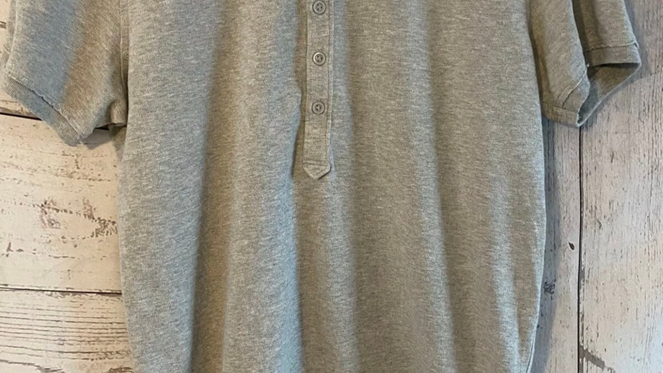 Mens Diesel Grey  Polo Collared T-Shirt Size Medium Excellent Condition