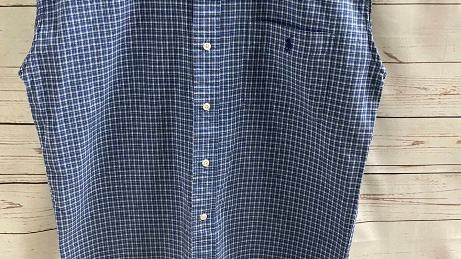Mens Ralph Lauren Blue Check Sleeveless Shirt Size Large Immaculate Condition
