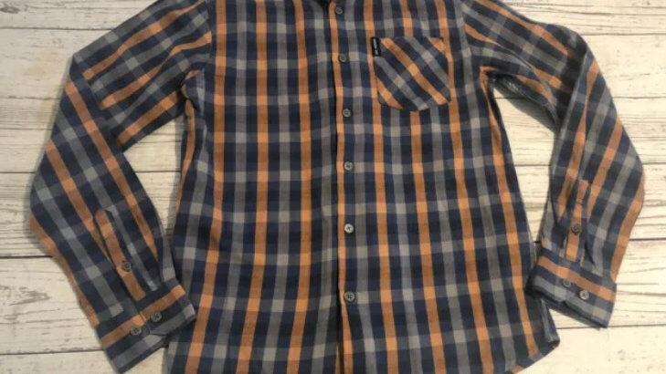Boys Ben Sherman Blue / Orange Long Sleeve Shirt Age 10-11 Years Excellent