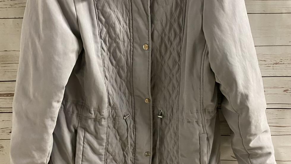 Womens / Ladies Bonmarche Light Grey Coat Size 14 Missing Belt