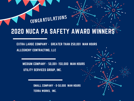 Safety Award Winners for '20