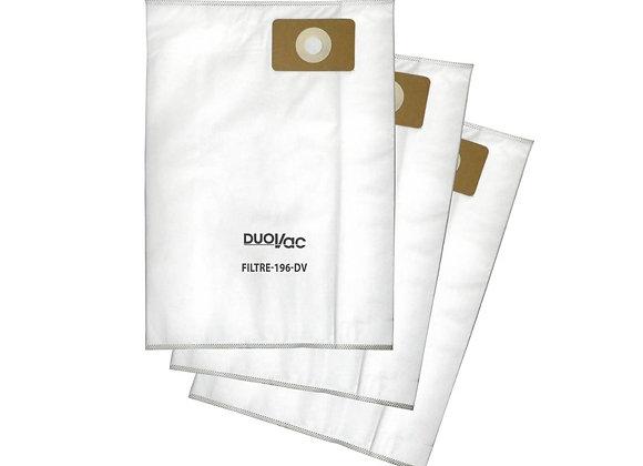 Duo Vac 196 Hepa Filter Bags