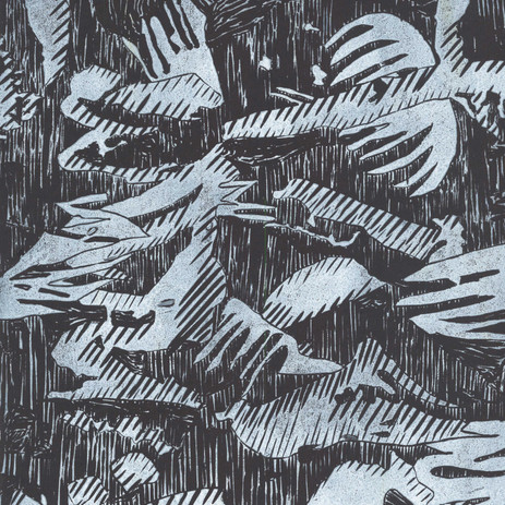 Lovely lino cut in black and white