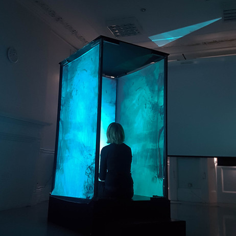 """Installation: """"Suggestion"""" audiovisual performance by the Altered States Collective, 2019"""