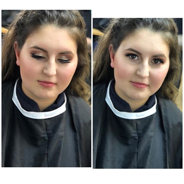 Some prom makeup from last week 💄