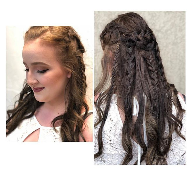 Prom hair and makeup 💄