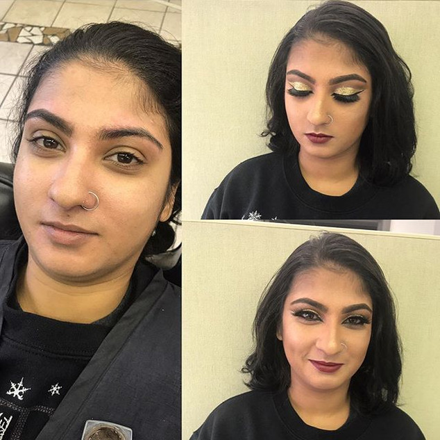Some Indian bridal inspired makeup today
