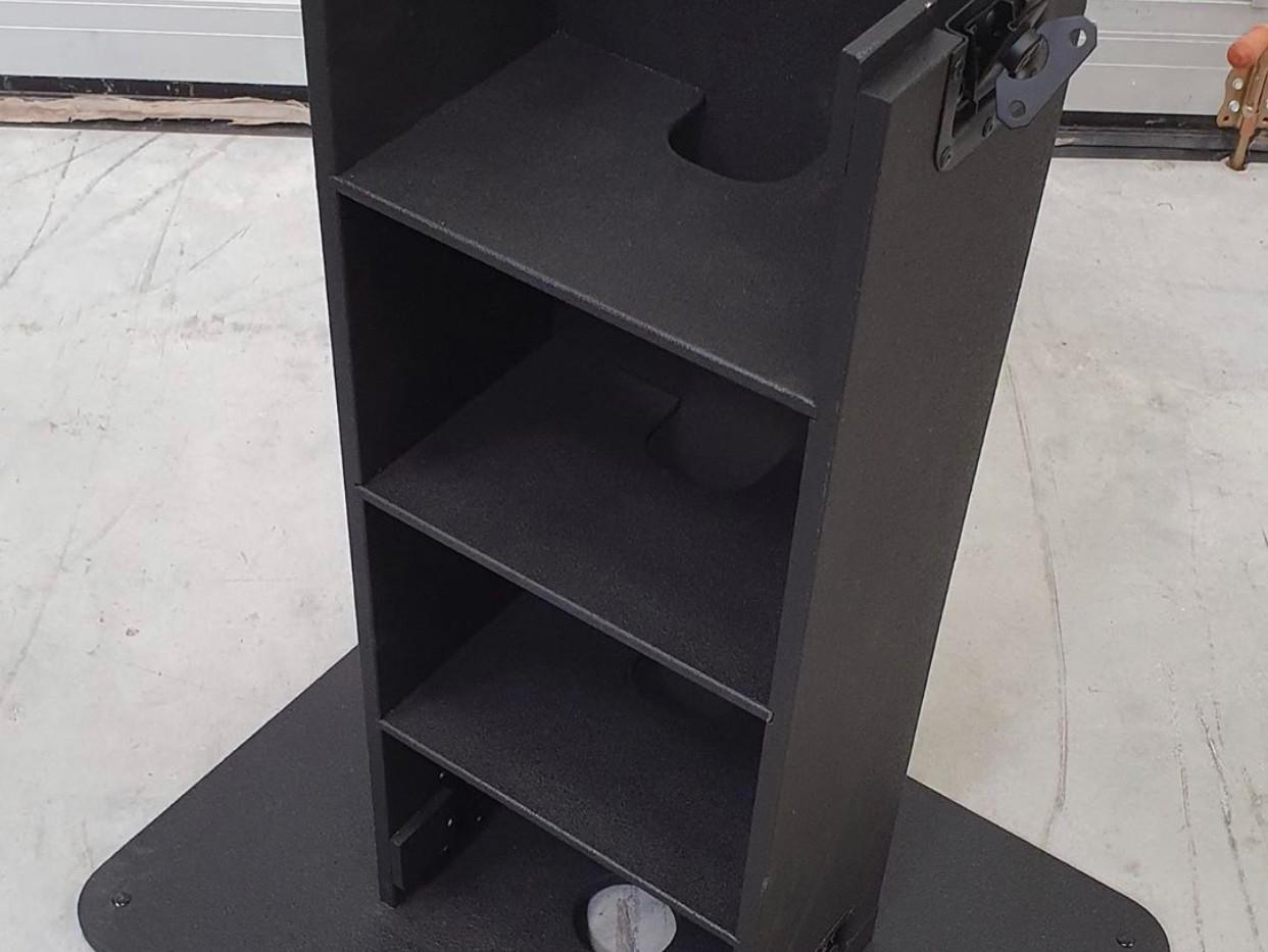 DJ booth zwart voetstuk + basis