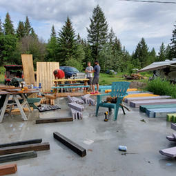 More Picnic Tables..