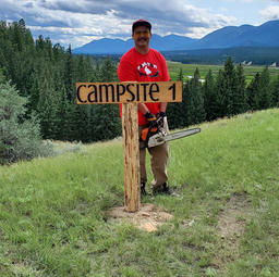Installing Campsite Signs