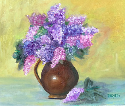 French Lilacs Oil 15 x 23
