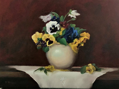 Pansies for You   Oil 12 x 16