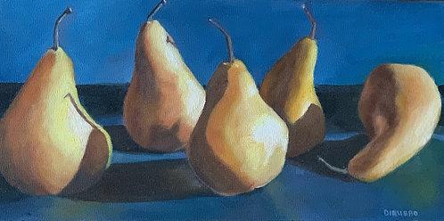 Five Pears Acrylic 6x 12x 1