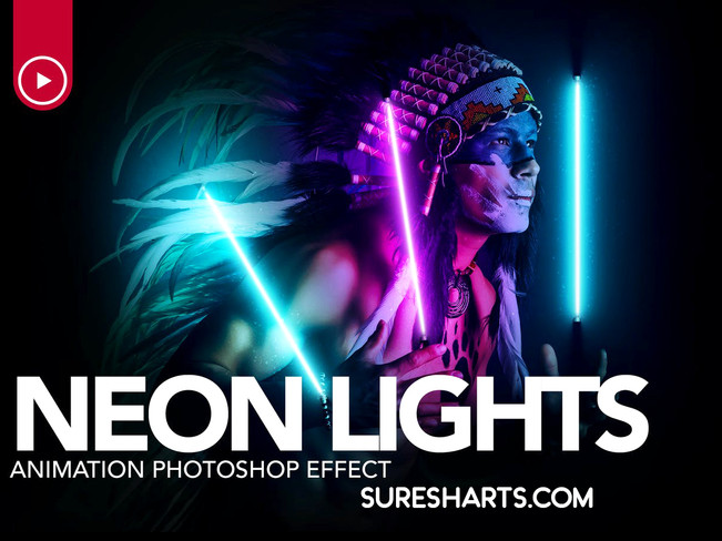 Gif Animated Neon Light Photoshop Action [Free Download]