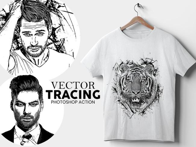 Vector Tracing Premium Photoshop Action [Free Download]