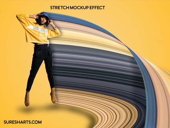 Creative Stock - Stretched Image Premium PSD Effect Mockup[Free Download]