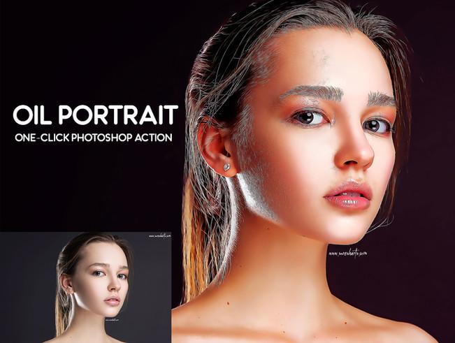 OIL PORTRAIT  Photoshop Action  Free Download