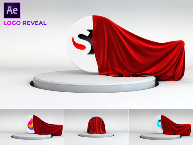 Creative Market - Cloth Logo Reveal-Free Download [After Effects]