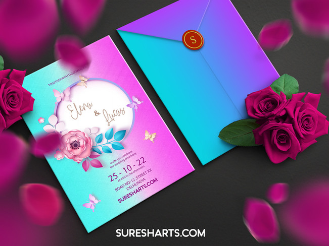 Minimalist Elegant Wedding Invitation Templates [Free Download]