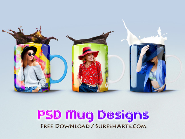 Mug Design PSD Templates [Free Download]