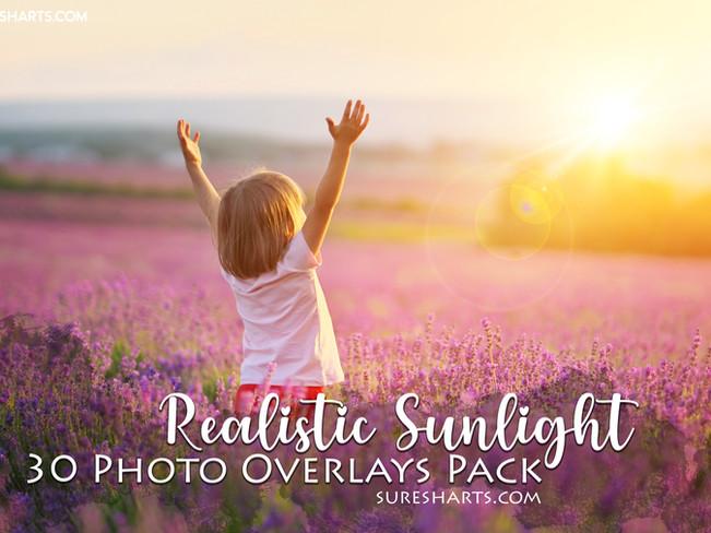 Realistic Sun Light Photo Overlays Pack -Phot0grapher's Edition