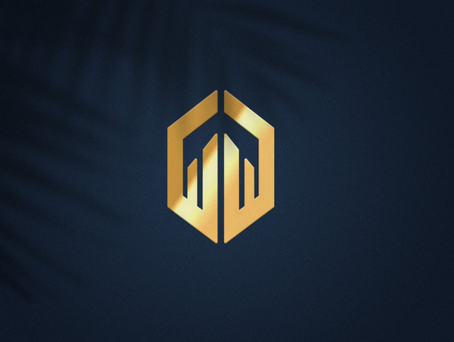 Simple Gold Logo Mockup By SureshArts