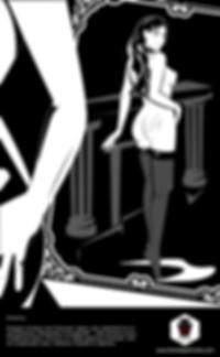 Девушка-сабмисси любуется следам порки