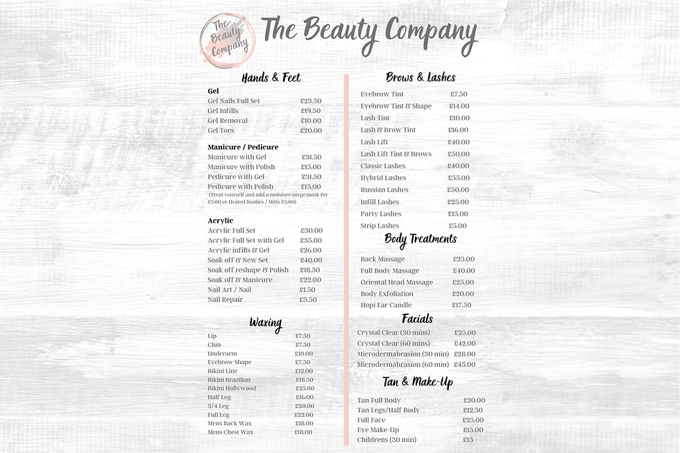Beauty Company Price List A5 Final.jpg