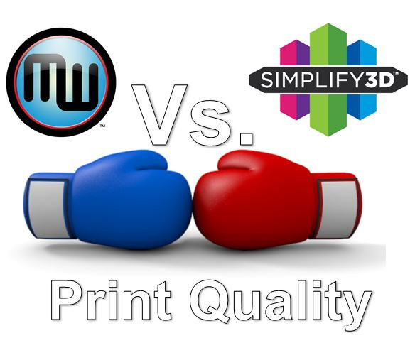 Simplify3D vs. MakerWare - Print Quality