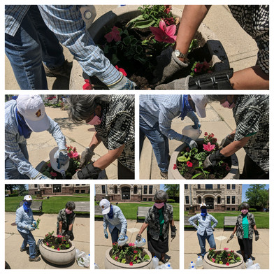 Xenia Court House Flower Project