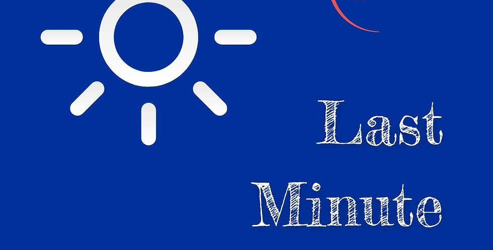 Daytime - Last Minute Booking (within 24 hours)