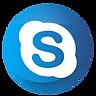 Blue Skype Logo in sphere shape.