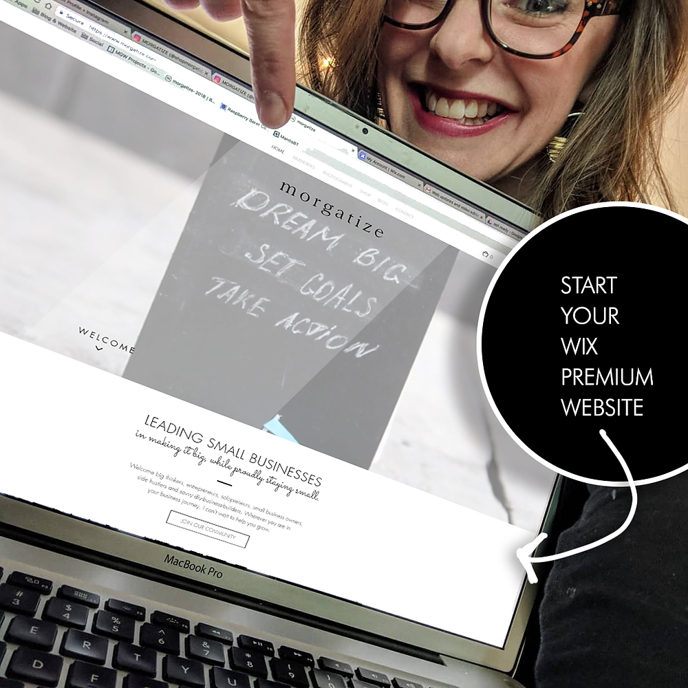 Start your Wix Premium Website