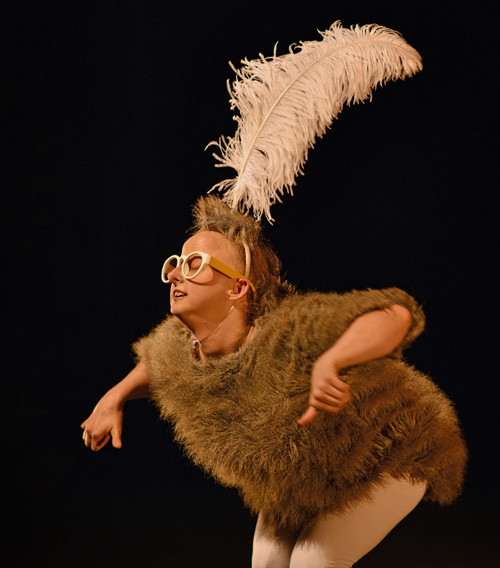 Sarah Houbolt in KooKoo the Bird Girl  (photograph by Sarah Louise Cheesmur)