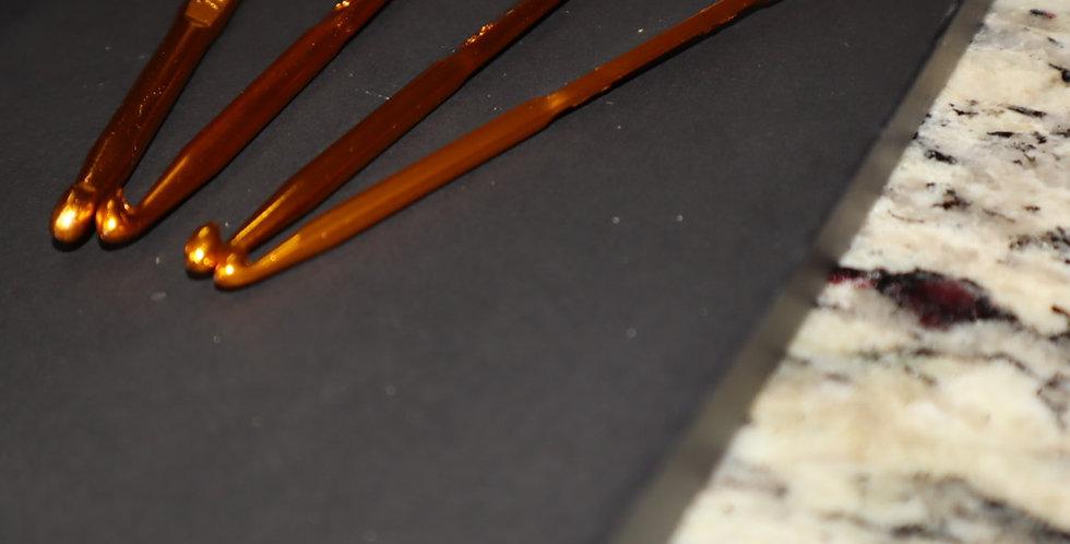 Golden Double Sided Crochet Needles