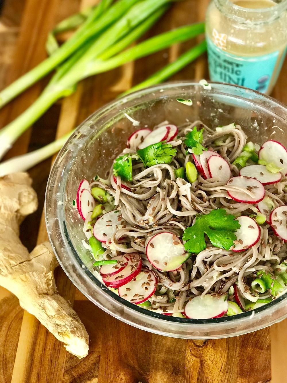 Oil Free Soba Noodle Salad